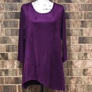 EUC SUNNY LEIGH Beautiful Asymmetrical Tunic